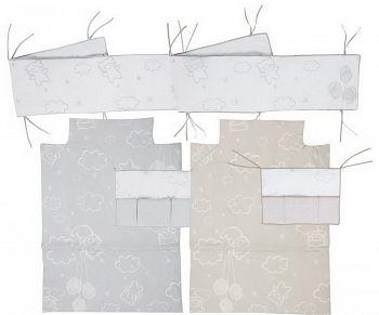 Бортики и покрывало 120x60 Micuna Dolce Luce Evolutive серый (TX-1675)