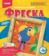 """Картина из песка """"Фреска. Разноцветный попугай"""""""