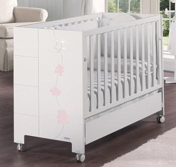 Кровать 120x60 Micuna Juliette Luxe Relax белый/розовый