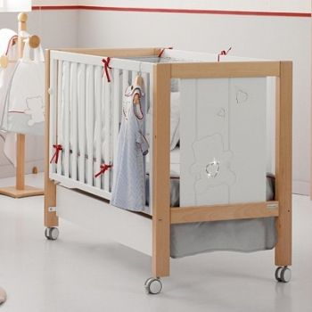 Кровать 120x60 Micuna Neus Luxe Relax белый/натуральный