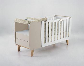 Кровать-трансформер 120x60 Micuna Harmony Relax белый/бежевый