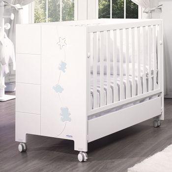 Кровать 120x60 Micuna Juliette Luxe Relax белый/голубой