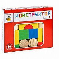 """Деревянный конструктор """"Цветной"""" (26 деталей)"""