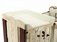 Пеленальная доска на кроватку 120x60 Micuna кремовый/серый