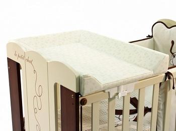 Пеленальная доска на кроватку 120x60 Micuna кремовый/серый (CP-744)