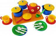 """Набор игрушечной посуды с подносом на 2 персоны """"Хозяюшка"""""""