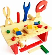 Набор детских инструментов с верстаком №2