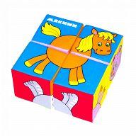"Кубики-мякиши ""Собери картинку. Животные - 2"" (4 элемента)"