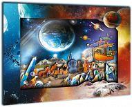 """Объемная картина """"Фэнтези. На планете"""" (48 деталей)"""