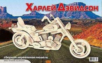 """Сборная деревянная модель """"Харлей Дэвидсон"""" (МДИ П019)"""