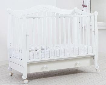 """Кровать 120x60 Гандылян """"Моника"""" белый (К-2002-20б)"""