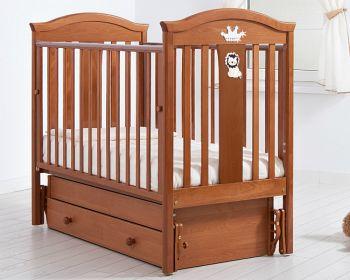 """Кровать с маятником 120x60 Гандылян """"Даниэль"""" вишня (К-2002-29мв)"""