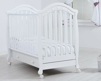 """Кровать 120x60 Гандылян """"Джозеппе"""" белый (К-2002-18б)"""