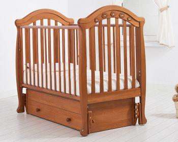 """Кровать с маятником 120x60 Гандылян """"Джозеппе"""" вишня (К-2002-18мв)"""