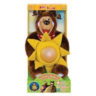 """Мягкая игрушка """"Музыкальный светильник. Маша и Медведь"""""""