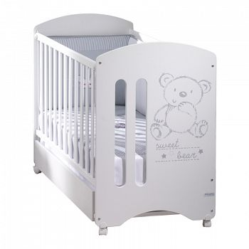 Кровать 120x60 Micuna Sweet Bear Basic белый