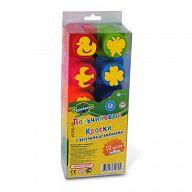 Пальчиковые краски с веселыми штампиками (10 цветов)
