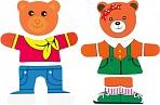 "Деревянная рамка-вкладыш ""Два медведя"""