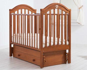"""Кровать с маятником 120x60 Гандылян """"Софи"""" вишня (К-2002-25мв)"""