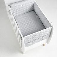 Бортики и покрывало 120x60 Micuna Harmony серый