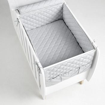Бортики и покрывало 120x60 Micuna Harmony серый (TX-1675)