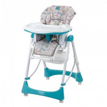 Стульчик для кормления Happy Baby Kevin Aquamarine (0479)