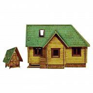 """Сборная модель из картона """"Дачный домик"""" (38 деталей)"""
