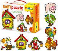 "Контур-пазл ""Baby Puzzle. Деревенька"""