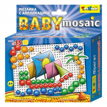 "Мозаика с аппликацией ""Baby Mosaic. Фрегат"" (ToysUnion 00-014)"