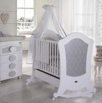 Кровать 120x60 Micuna Alexa Relax белый/серебро