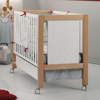Кровать 120x60 Micuna Neus Relax белый/натуральный