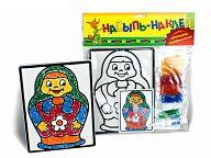 """Набор для создания открытки """"Насыпь-Наклей. Матрешка"""""""