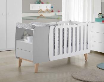 Кровать-трансформер 120x60 Micuna Harmony Relax белый/серый