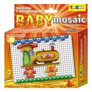 """Мозаика с аппликацией """"Baby Mosaic. Паровозик"""" (55 деталей)"""
