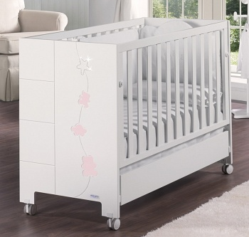 Кровать 140x70 Micuna Juliette Luxe Relax Big белый/розовый