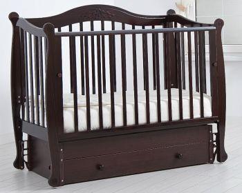 """Кровать с маятником 120x60 Гандылян """"Моника"""" махагон (К-2002-20мм)"""