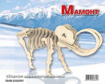 """Сборная деревянная модель """"Мамонт"""" (МДИ Ж011)"""