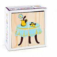 """Деревянные кубики """"Сложи рисунок. Мебель"""" (4 элемента)"""