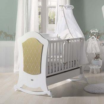 Кровать 140x70 Micuna Alexa Relax Big белый/золото