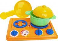 Набор игрушечной посуды с плитой