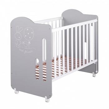 Кровать 120x60 Micuna Globe белый/серый