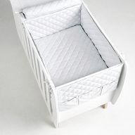 Бортики и покрывало 120x60 Micuna Harmony белый