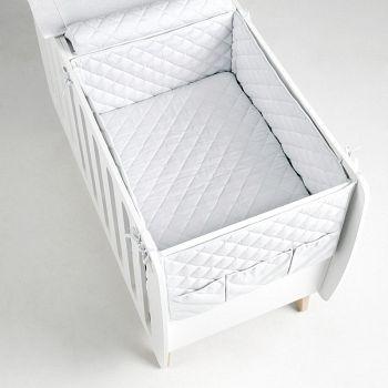 Бортики и покрывало 120x60 Micuna Harmony белый (TX-1675)