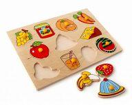 """Деревянная рамка-вкладыш """"Фрукты, овощи. Завтрак"""""""