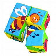 "Кубики-мякиши ""Собери картинку. Насекомые"" (4 элемента)"