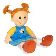 """Мягкая игрушка """"Кукла Майя в платье с пчелкой"""""""