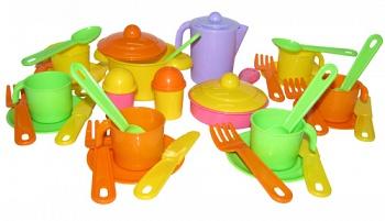 """Набор игрушечной посуды на 6 персон """"Настенька"""" (Полесье 3933)"""