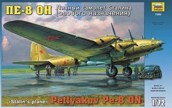 """Сборная модель """"Личный самолет Сталина Пе-8 ОН"""" (Звезда 7280)"""