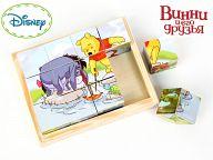 """Деревянные кубики """"Disney. Винни-Пух"""" (12 элементов)"""