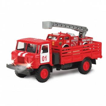 """Машина металлическая инерционная """"ГАЗ 66. С пожарной машиной"""" (Технопарк CT-1299+B3(WB))"""